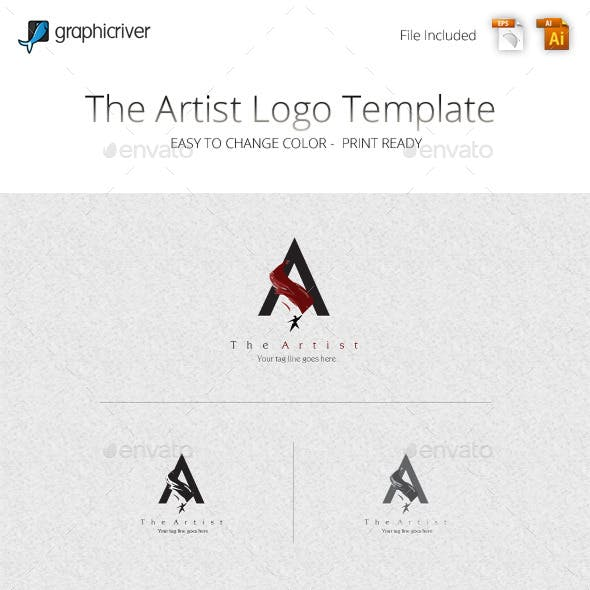 The Artist Logo Template