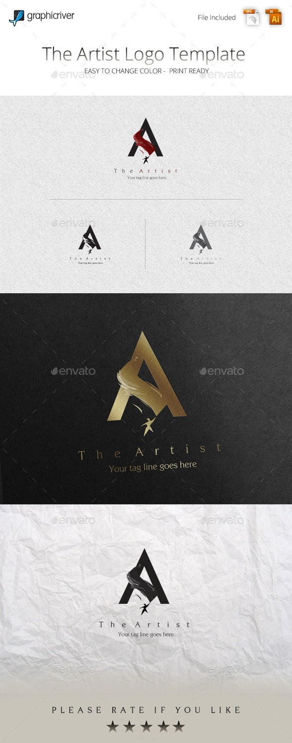 The Artist Logo Template - College Logo Templates