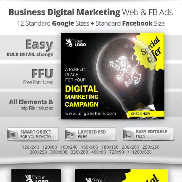 Business Digital Marketing Web & FB Banners Ads
