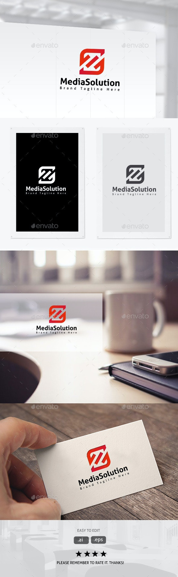 Media Solution - Letters Logo Templates