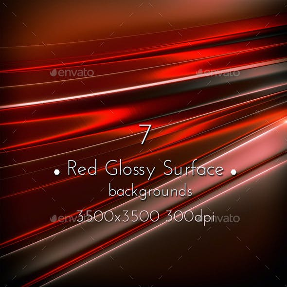 Red Glossy Surface
