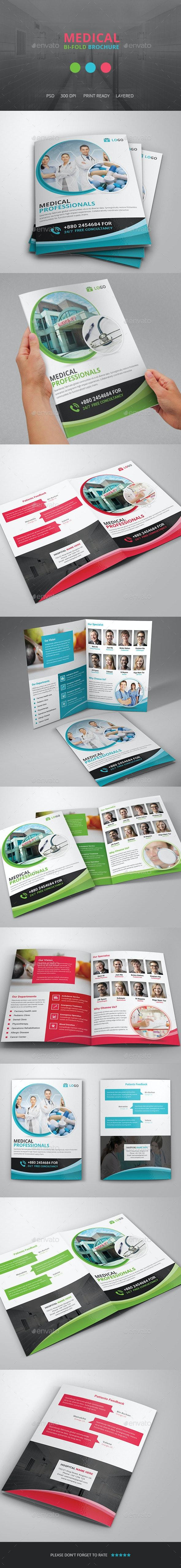 Medical Bi fold Brochure Template - Brochures Print Templates