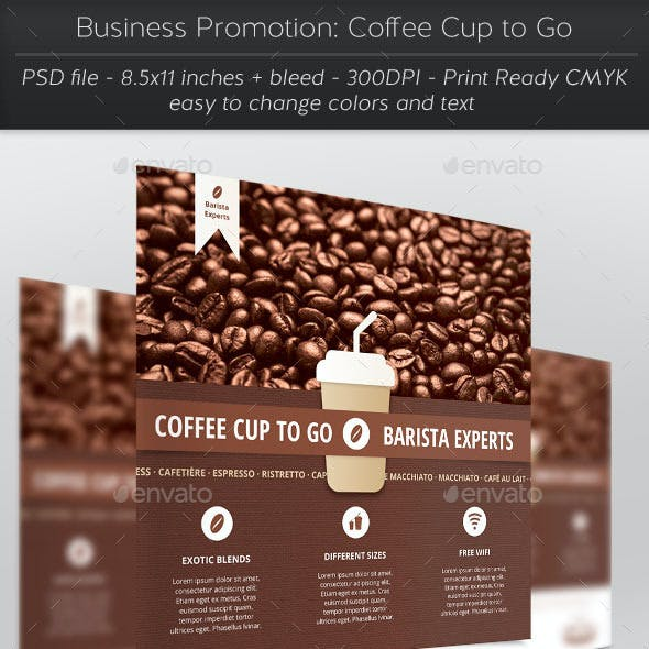 Business Promotion: Coffee Cup to Go