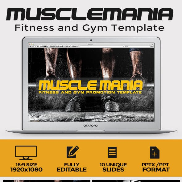 Muscle Mania Fitness and Gym Template