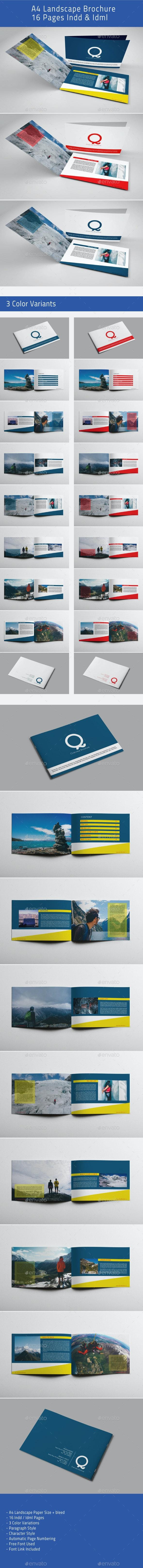 A4 Landscape Brochure - Newsletters Print Templates