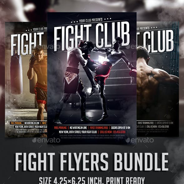 Fight Club Flyers Bundle
