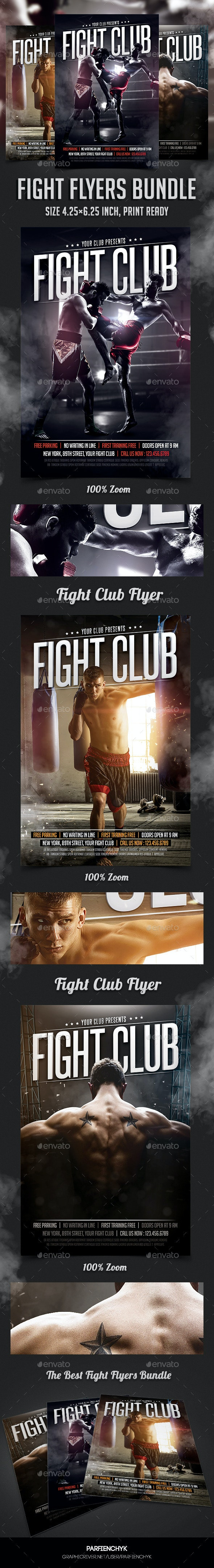 Fight Club Flyers Bundle - Sports Events