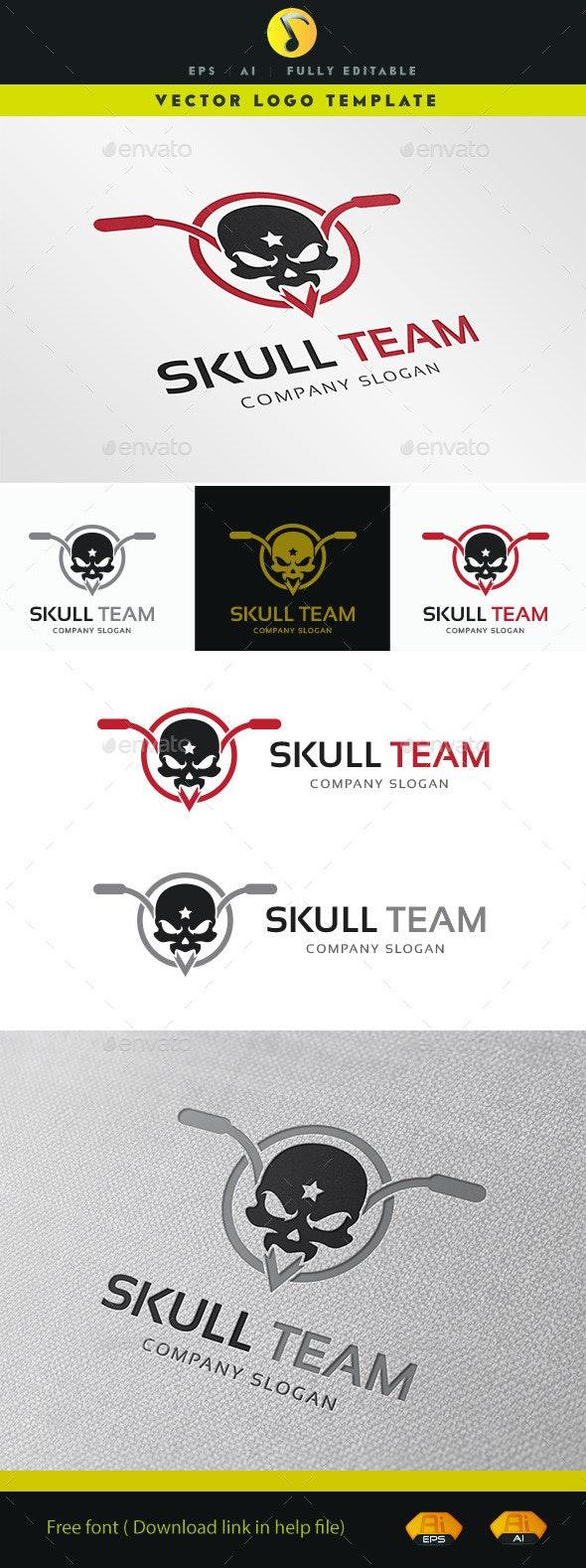 Skull Team Logo - Humans Logo Templates