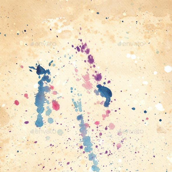 Watercolor Splatter Textures
