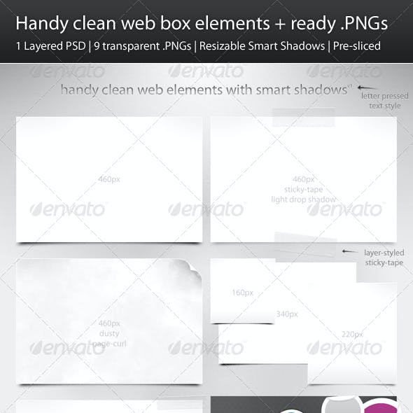 Handy Clean Web Box Elements + Ready .PNGs