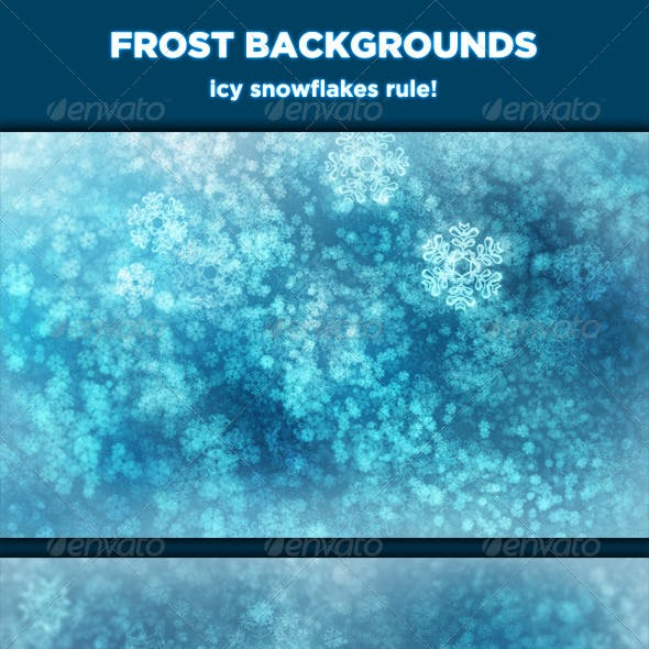Frost Backgrounds - Icy Snowflakes