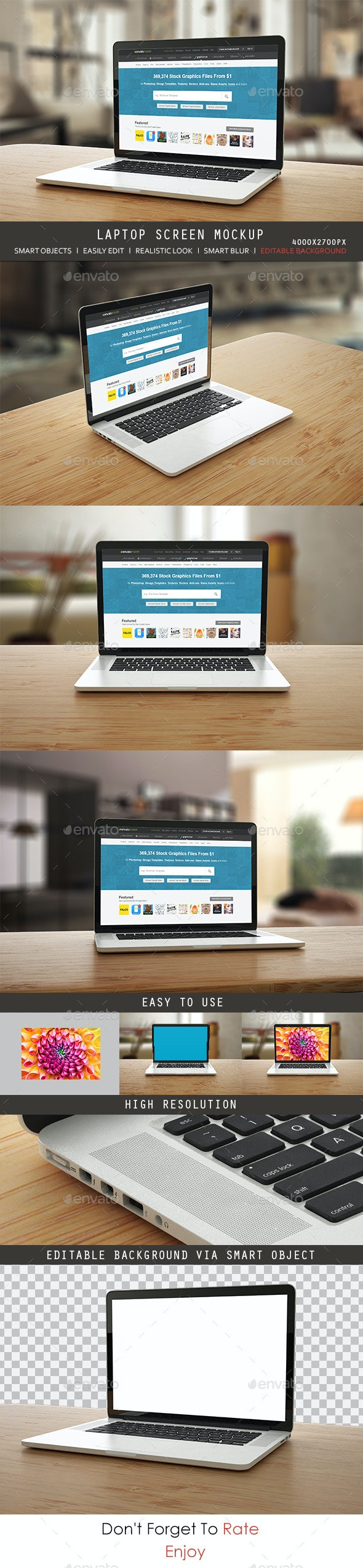Laptop Screen Mock up  - Laptop Displays