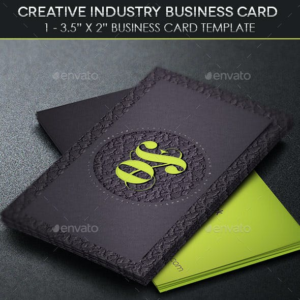 Creative Industry Business Card Template