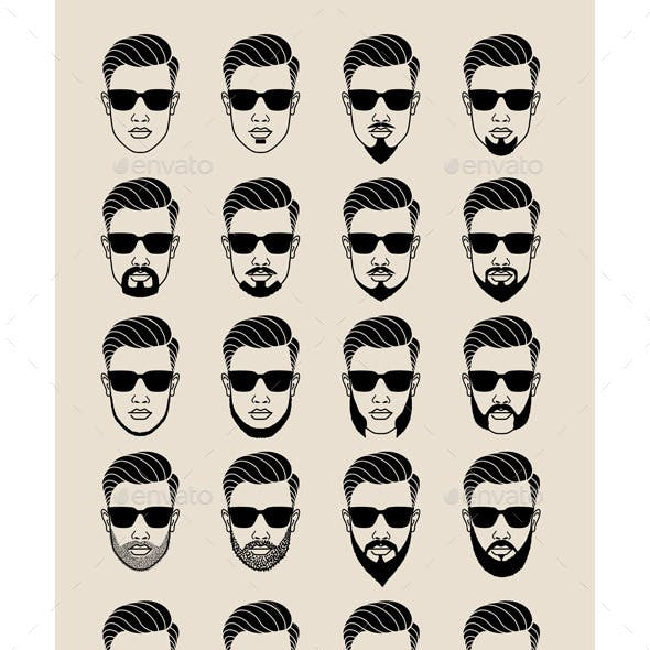 Hipster Faces with Beard