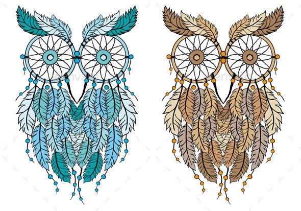 Dream Catcher Owl - Animals Characters