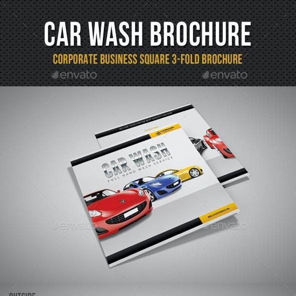 Car Wash Square 3-Fold Brochure 01