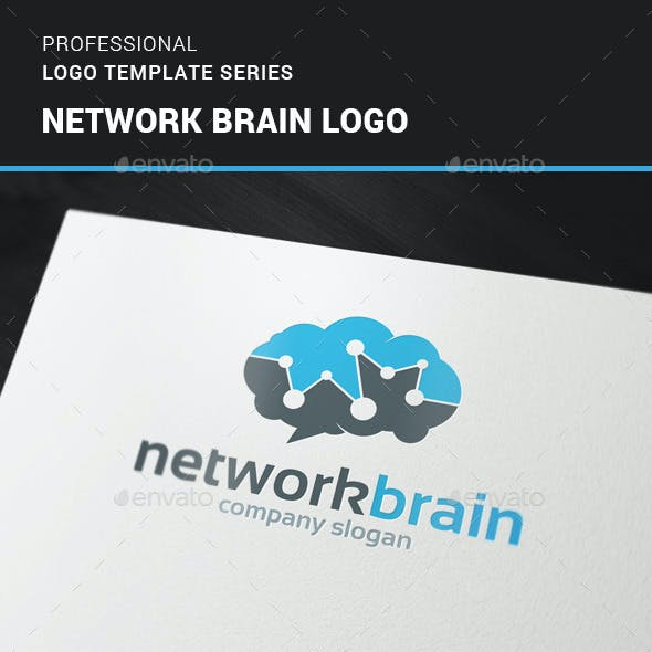 Network Brain Logo Template