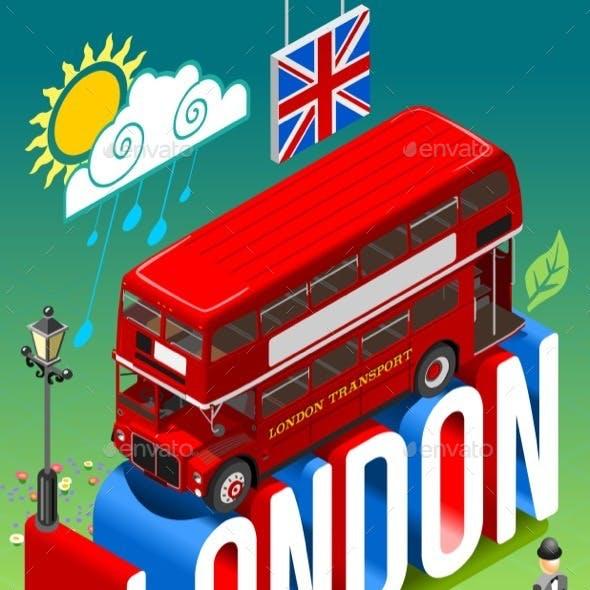 London Double Decker Postcard