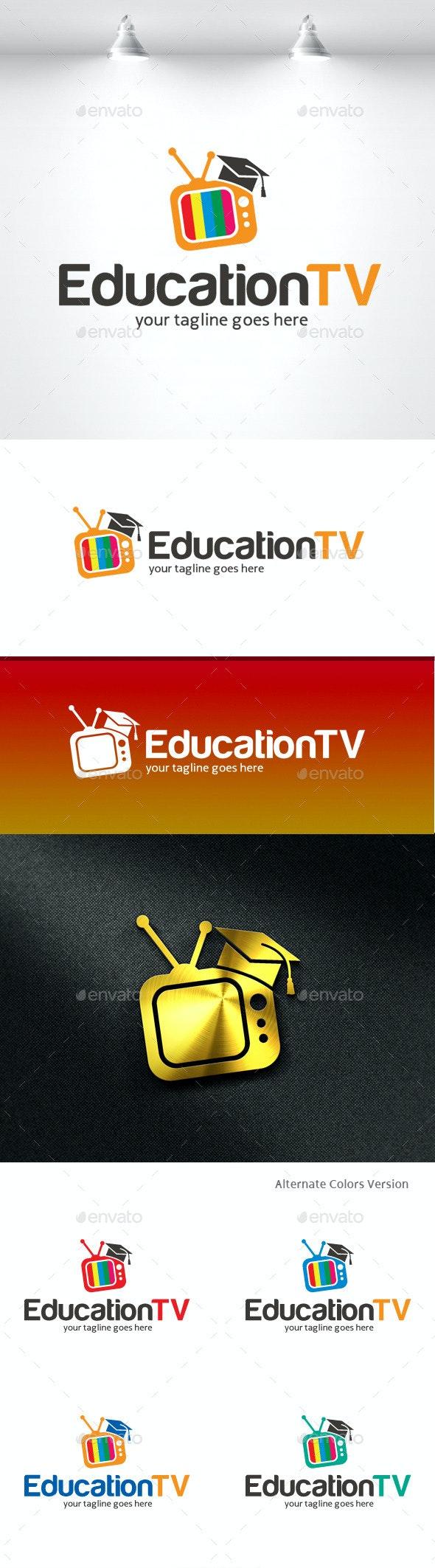 Education TV Logo - Objects Logo Templates