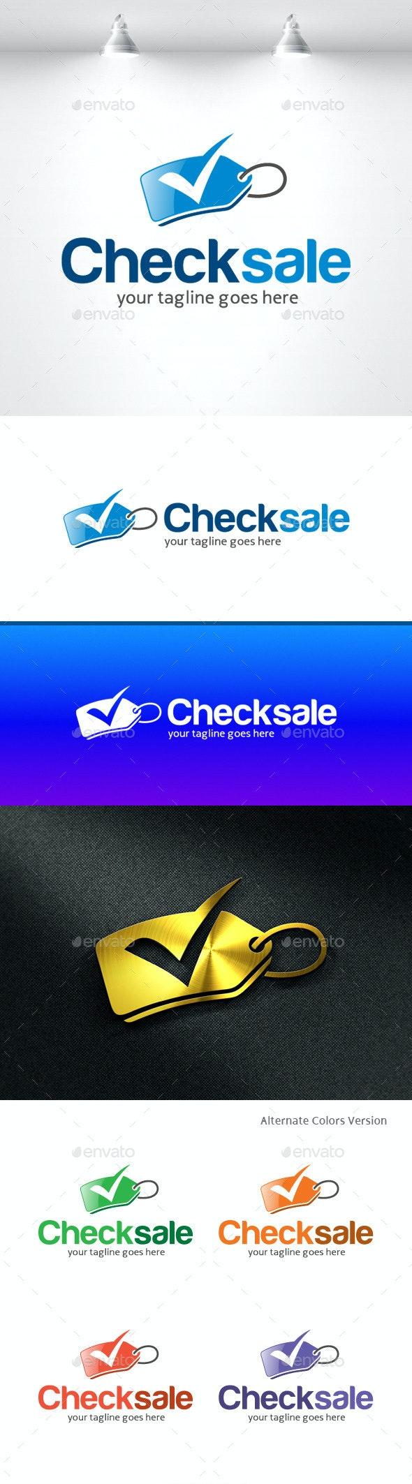 Check Sale Logo - Objects Logo Templates