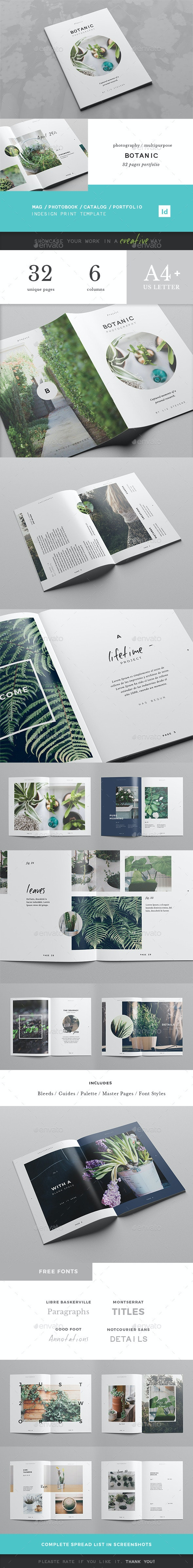Botanic / Multipurpose Creative Portfolio - Portfolio Brochures