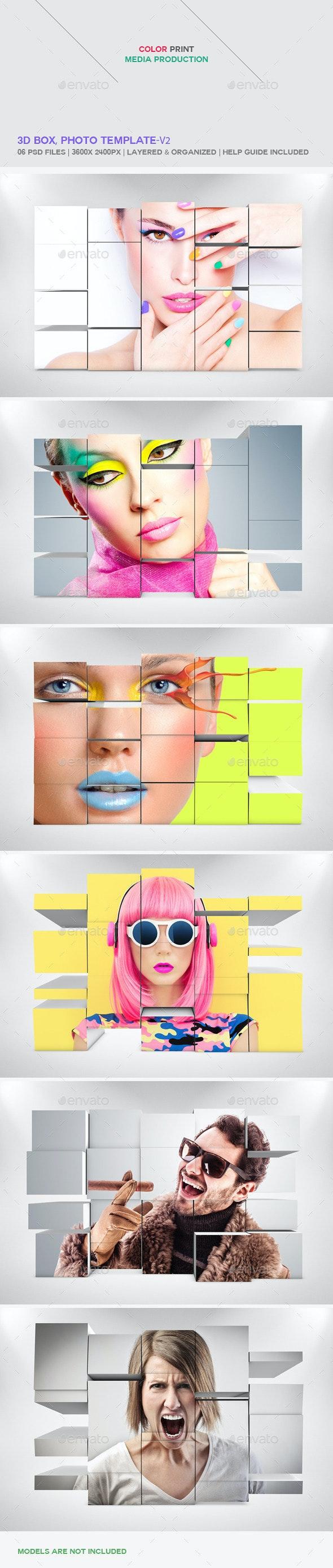 3D Box, Photo Template - V2 - Miscellaneous Photo Templates