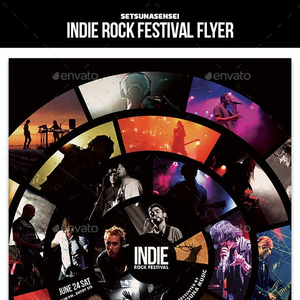 Indie Rock Festival Flyer