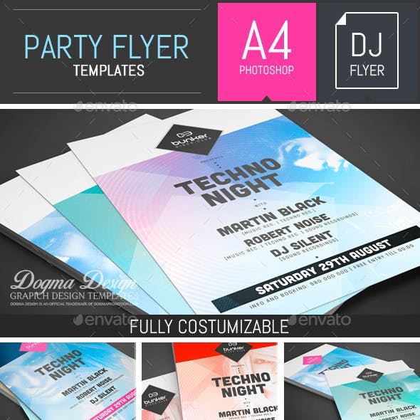 Dj Party Flyer/Poster Template