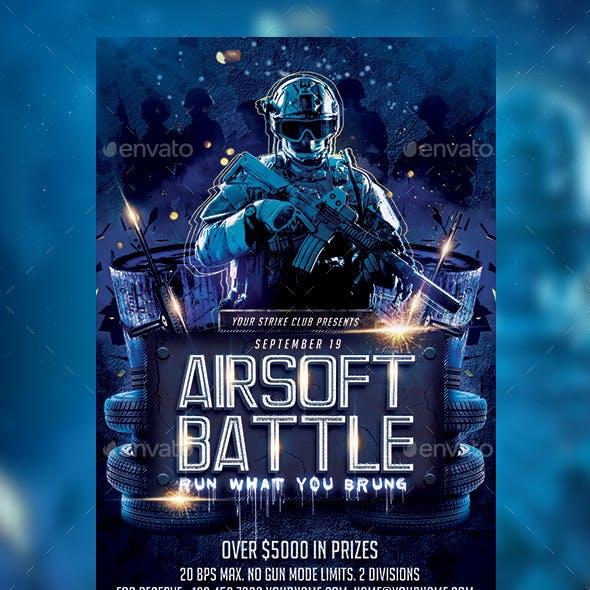 Airsoft Battle Flyer