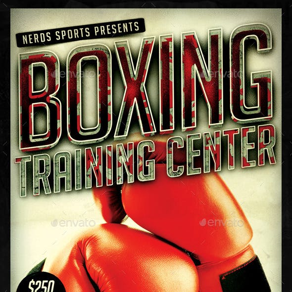 Boxing Training Center Sports Flyer