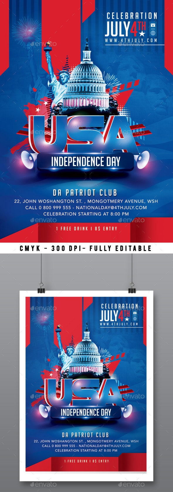 4th July Flyer - Events Flyers