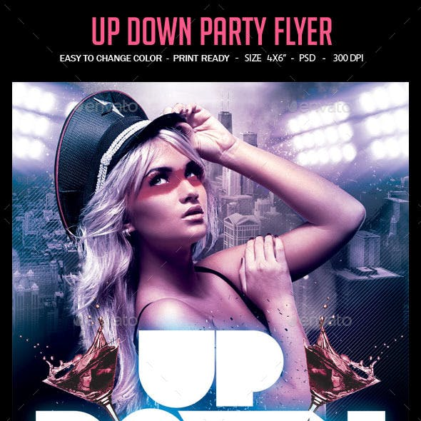 Up Down Party Flyer