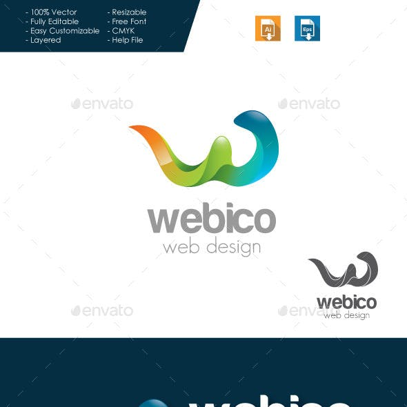 Webico Web Design - Letter W Logo