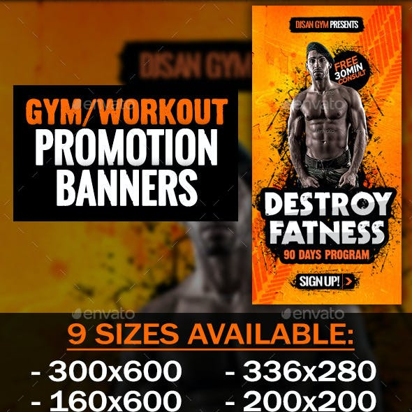 Gym and Workout Promotion Banner 5