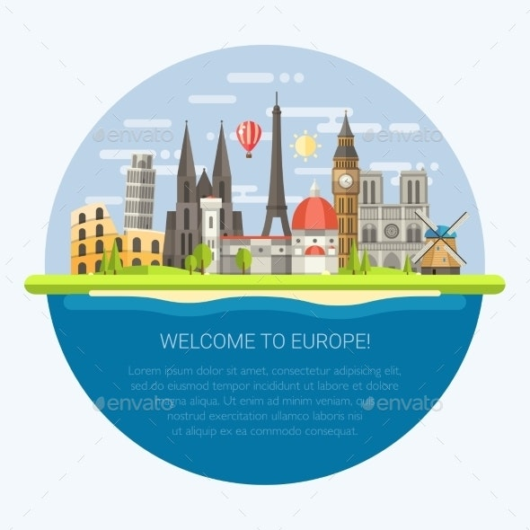 Welcome to Europe - Travel Conceptual