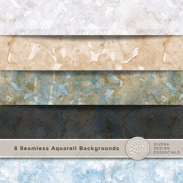 8 Aquarel Backgrounds