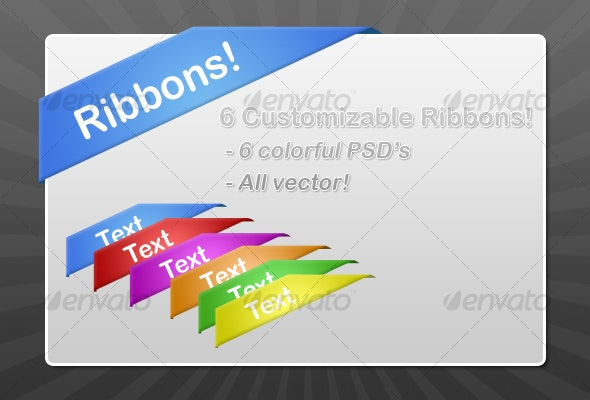 Corner Ribbons - Miscellaneous Icons