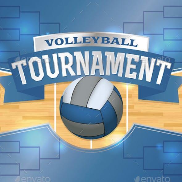 Volleyball Tournament Design Poster