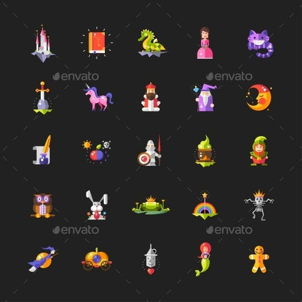 Set of Fairy Tales Icons
