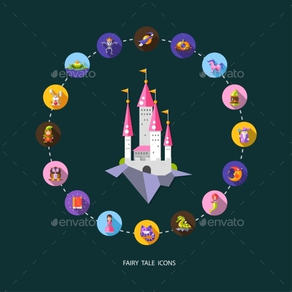 Set of Fairy Tale Icons - Miscellaneous Characters