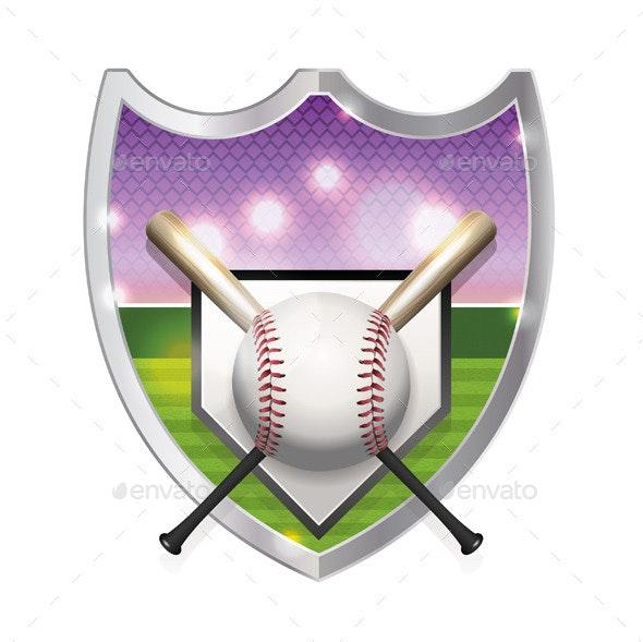 Baseball Emblem Illustration - Sports/Activity Conceptual