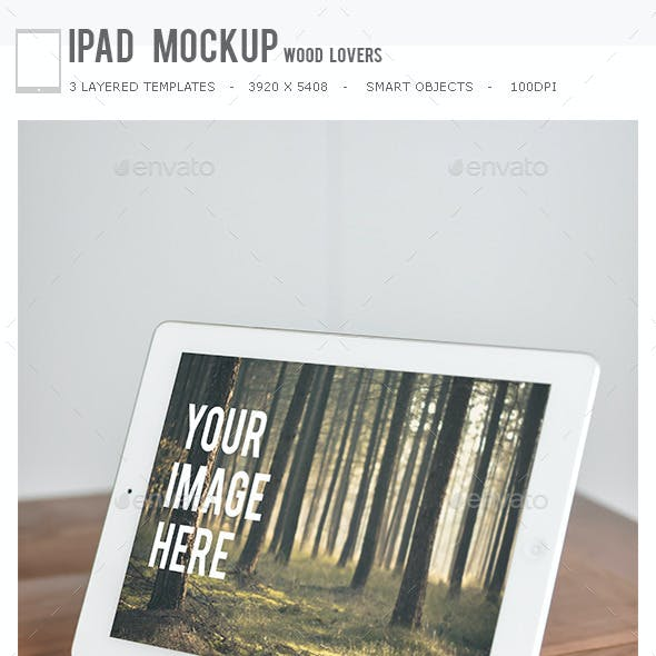 Ipad Mockup Wood Lovers