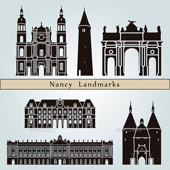 Nancy Landmarks and Monuments - Buildings Objects
