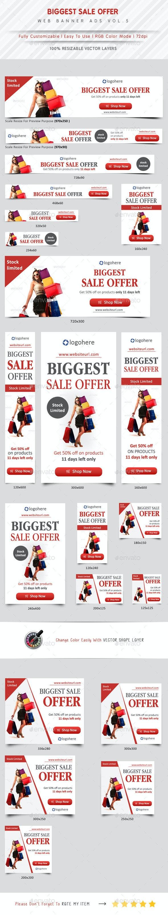 Biggest Sale Offer Web Banner Vol.5 - Banners & Ads Web Elements