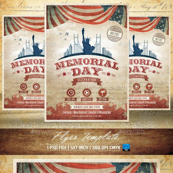 Memorial Day Flyer Template v2