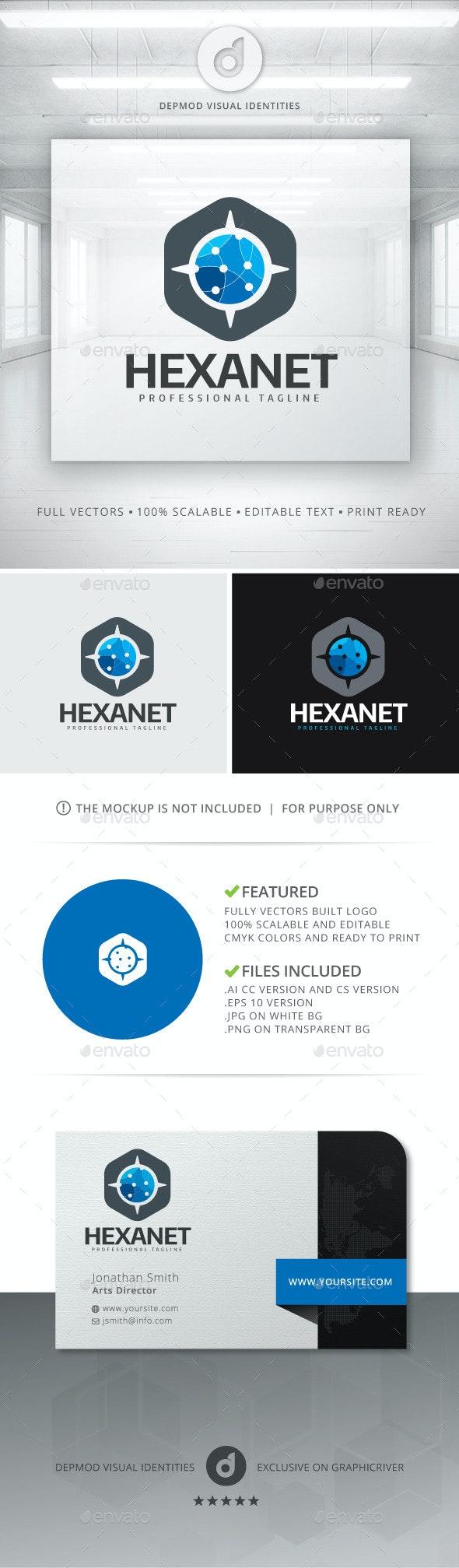 Hexa Net Logo - Symbols Logo Templates