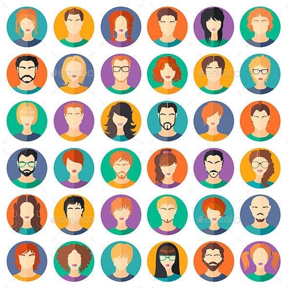 Set of Avatars - People Characters