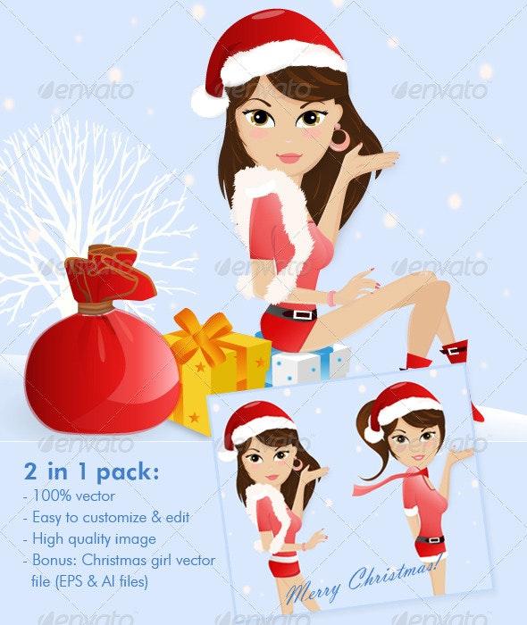 Cute Christmas Girl Dress Up - Christmas Seasons/Holidays