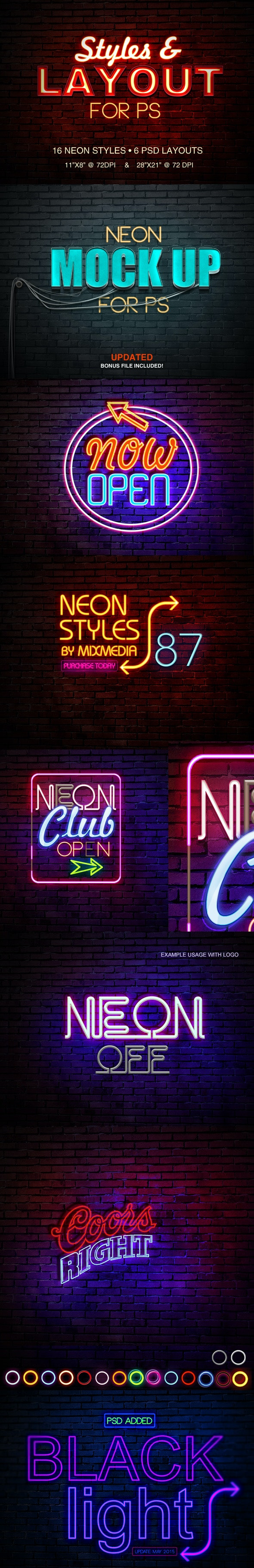 Neon Sign Styles - Photoshop Add-ons