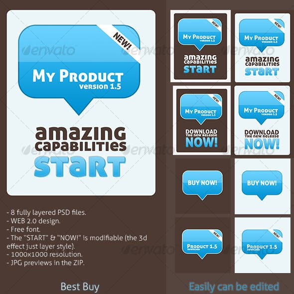 Web 2.0 Graphic for Showcasing Products